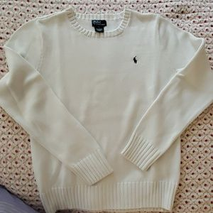 Boys White Polo Ralph Lauren Sweater